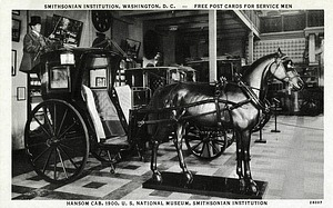 Postcard of a Hansom Cab