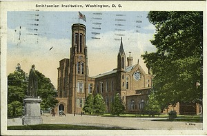 "Postcard of the Smithsonian Institution ""Castle"" Building"