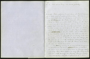 Mary Henry Diary Entry Death of William Henry, December 6, 1862