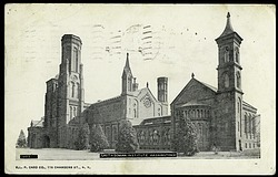 Grayscale Postcard of the Smithsonian Institution Castle