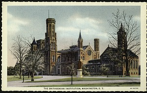 Blank Postcard of the Smithsonian Institution Castle