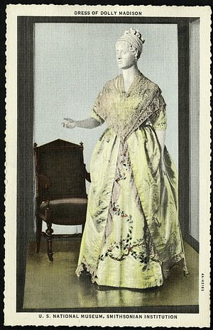 Postcard of a Dress of Dolley Madison