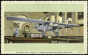 "Blank Postcard of the ""Spirit of St. Louis"""