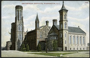Postcard of the Smithsonian Institution Castle to Mrs. R.D. Perkins
