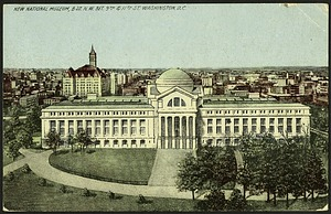 Postcard of the New National Museum and Washington, D.C