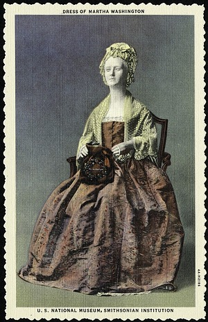 Postcard of a Dress of Martha Washington