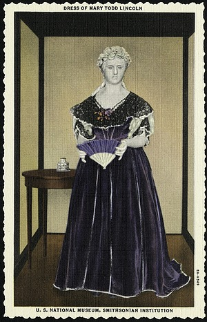 Postcard of a Dress of Mary Todd Lincoln