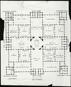 Floor Plan of the Arts & Industries Building, United States National Museum