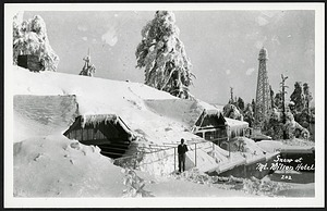 Postcard of Snow at Mt. Wilson Hotel