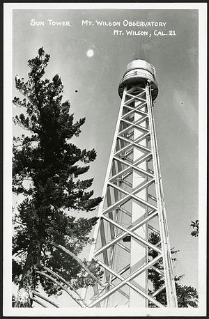 Postcard of Sun Tower at Mt. Wilson