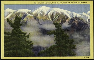 Postcard of Mt. San Antonio