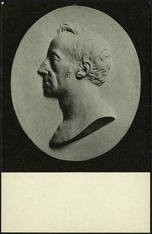 Postcard of Medallion of James Smithson