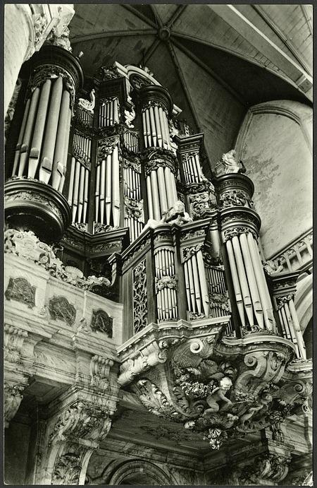 Postcard of Organ at Oude Kerk Amsterdam