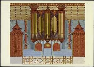 Postcard of Painting of an Organ