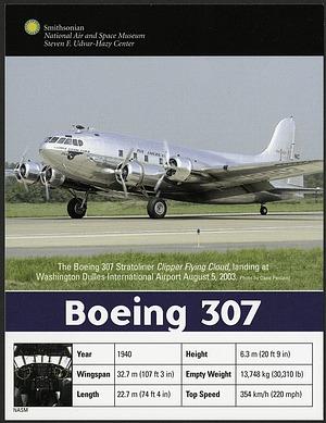 Postcard of Boeing 307