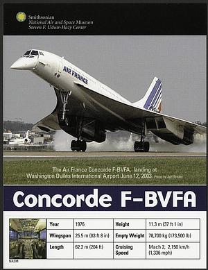 Postcard of Concorde F-BVFA