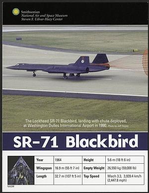 Postcard of SR-71 Blackbird