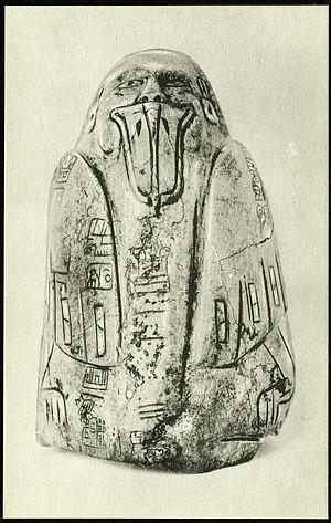 Postcard of Tuxtla Statuette