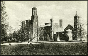 Sepia Postcard of the Smithsonian Castle