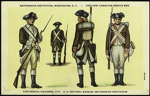 Postcard of Continental Army Uniforms