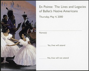 "RSVP Postcard for ""En Pointe"" Exhibit"