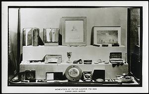 Postcard of Peter Cooper's Mementos