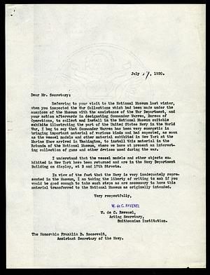 Letter from William deC. Ravenel to Franklin D. Roosevelt, July 27, 1920