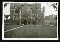 Salisbury Cathedral, 1925, Smithsonian Institution Archives, SIA RU007091 [SIA2015-003204].