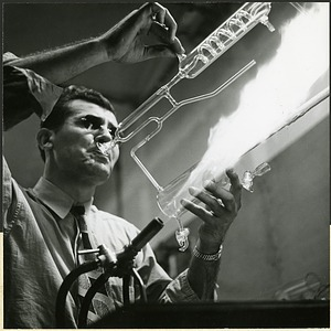 "Glass-blower John Breda ""This 'trombonist' really plays hot."""