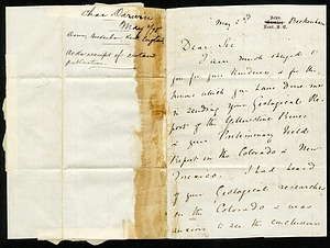Letter from Charles Darwin, 1875, Smithsonian Institution Archives, SIA RU007177 [SIA2016-009764].