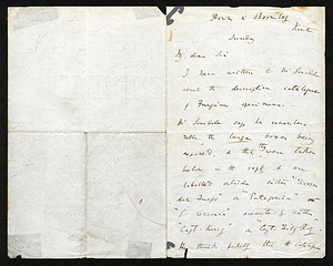 Letter from Charles Darwin