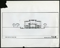 Concept drawing for National Air and Space Museum Building