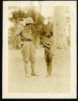 Hilda Hempl Heller (1891-1964) and Wambute pygmy woman