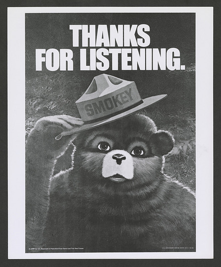 Forest Service Poster of Smokey Bear