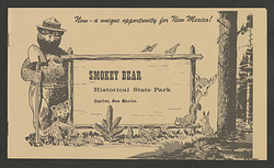 Brochure for Smokey Bear Historical State Park in New Mexico