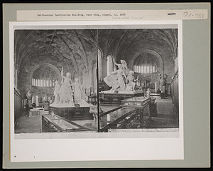 """Reproduction of """"America"""" Group in the Smithsonian Institution Building, or Castle"""