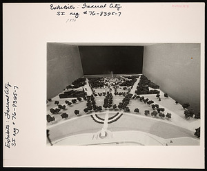 """""""The Federal City: Plans and Realities"""" Exhibition Model, Smithsonian Institution Building, or Castle"""