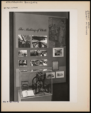 Textiles Exhibit, Great Hall, Smithsonian Institution Building, or Castle